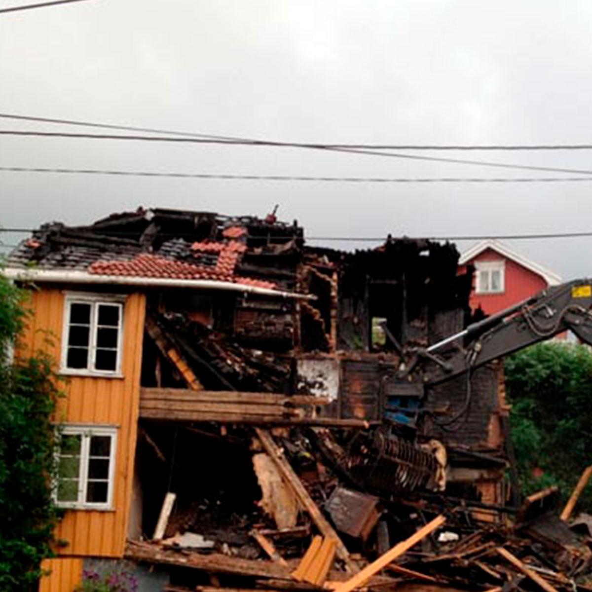 riving av hus